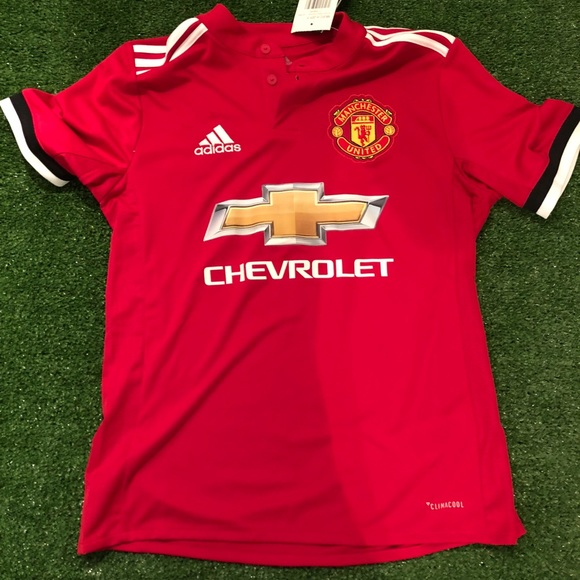 official photos 0a6a4 81969 Brand new youth Adidas Manchester United jersey NWT